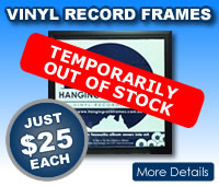 Vinyl Record Frames $19 Each